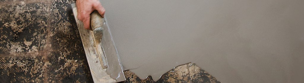 Arditex NA Levelling and Smoothing compound Covering Old Adhesive Residue without Priming